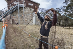 Cleaning the nets - Thredbo, NSW